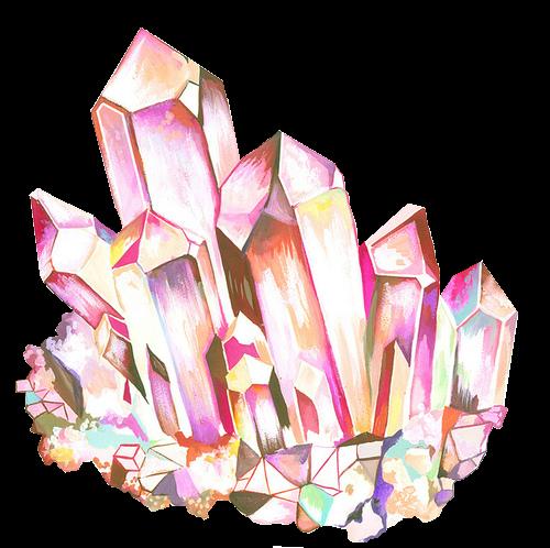 Drawn crystal Pink crystal Mew rainbow crystal