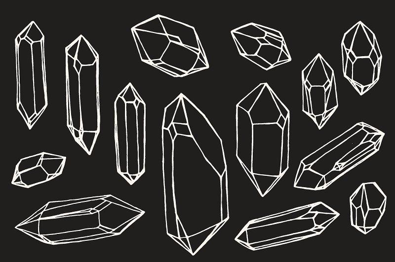 Drawn crystals Gem Mineral Graphics Crystal /
