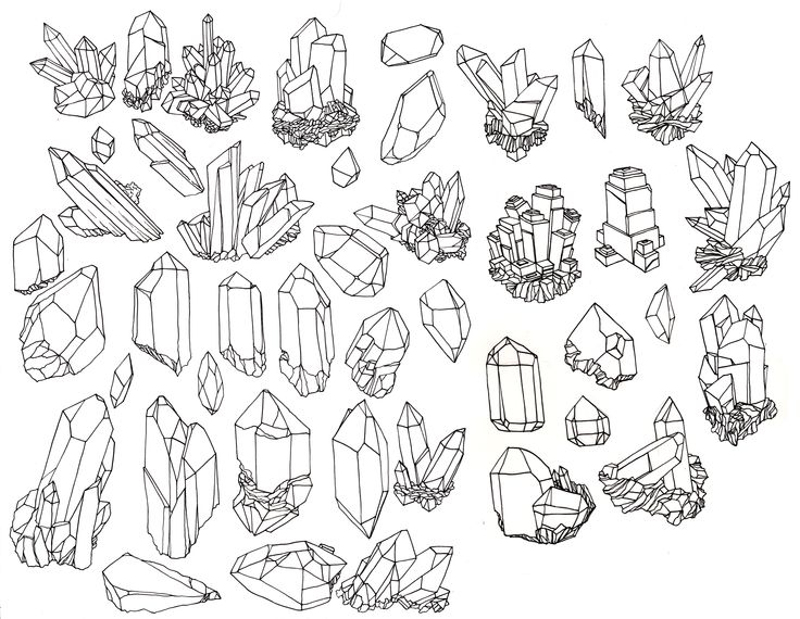 Drawn crystals Search drawing Google crystals crystals