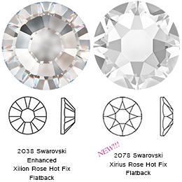 Drawn crystals Hotfix XIRIUS (Hotfix  Light