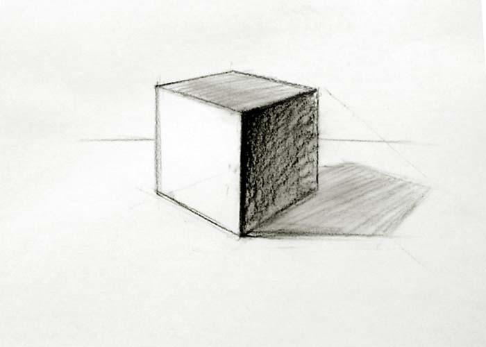 Drawn cube To drawing How to image