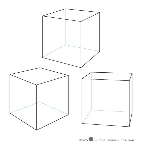 Drawn cube Manga perspective Anime and drawn