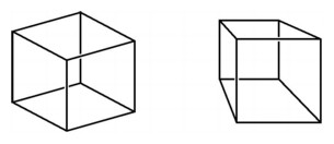 Drawn cube Awareness Cubes (Essays/Dimension) 2000: Drawing