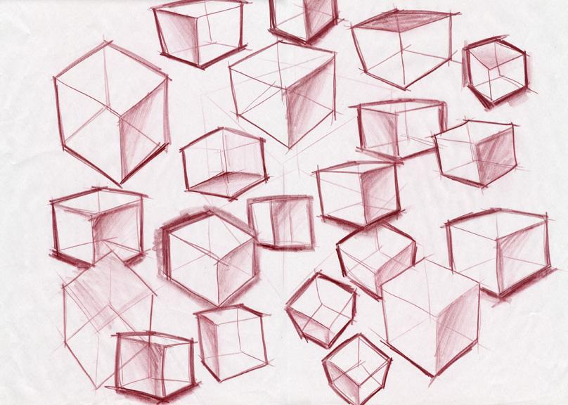 Drawn cube (113073 cubesb Student Work tumble