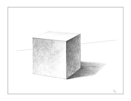 Drawn cube Techniques Alex  Drawing