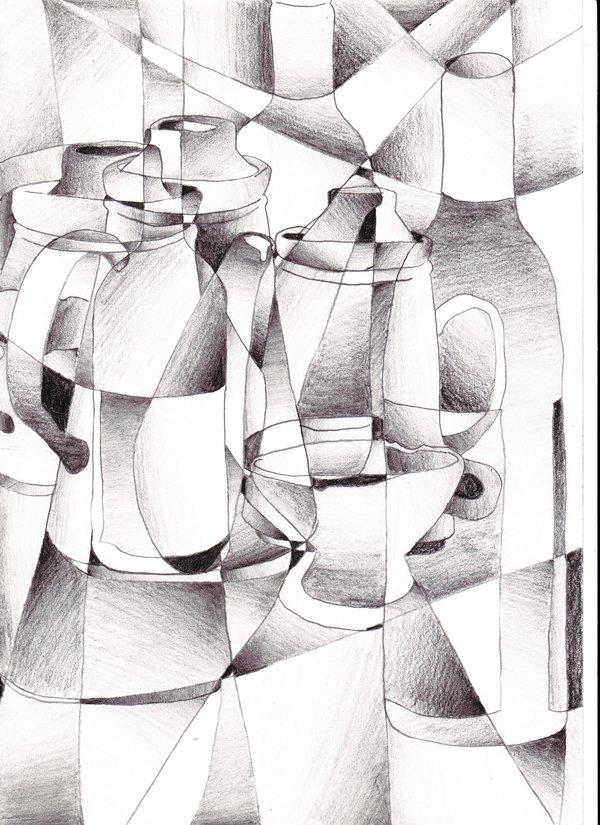 Drawn cubism By on deviantART on riartha