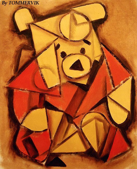 Drawn animal cubist #4