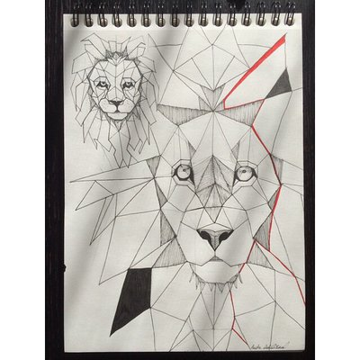 Drawn animal cubist #9