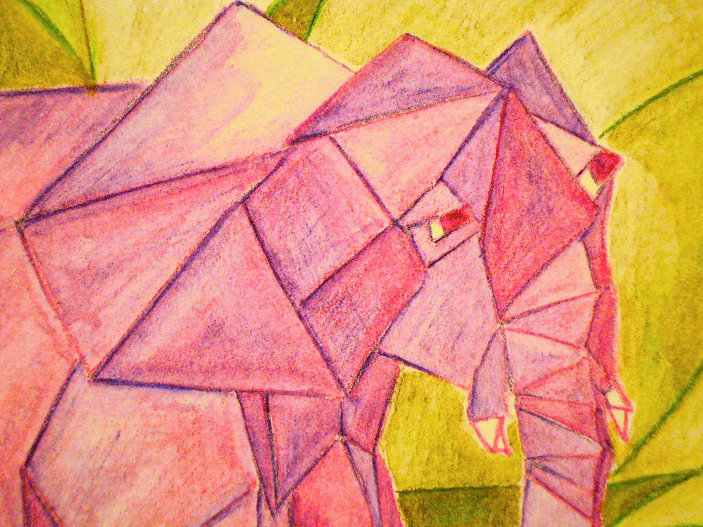 Drawn animal cubist #8