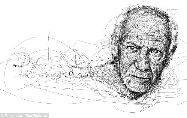 Drawn portrait famous artist A Low Vince not Cubism: