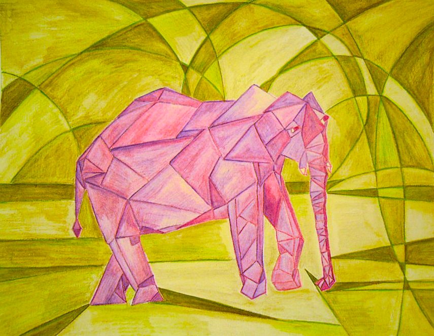 Drawn animal cubist #11