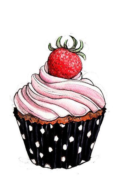 Drawn cupcake Pinterest Cupcake 25+ ideas #cupcake