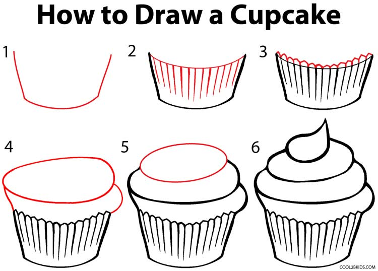 Drawn cupcake How Cupcake Draw by How