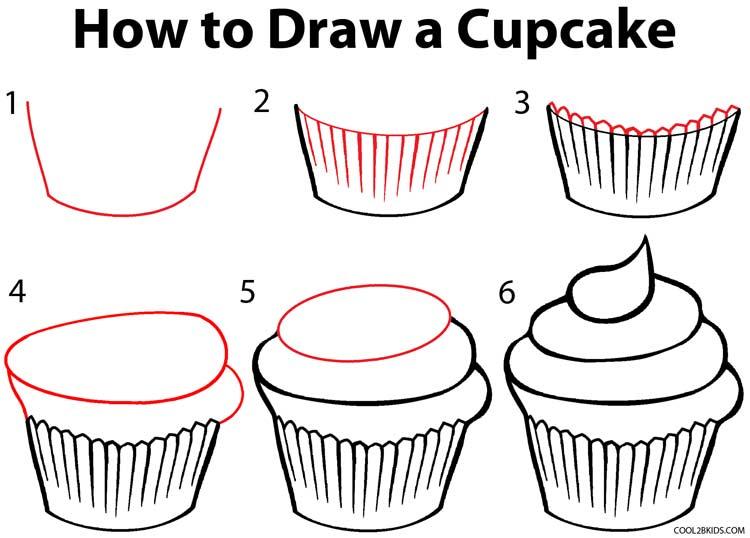 Drawn cupcake #6