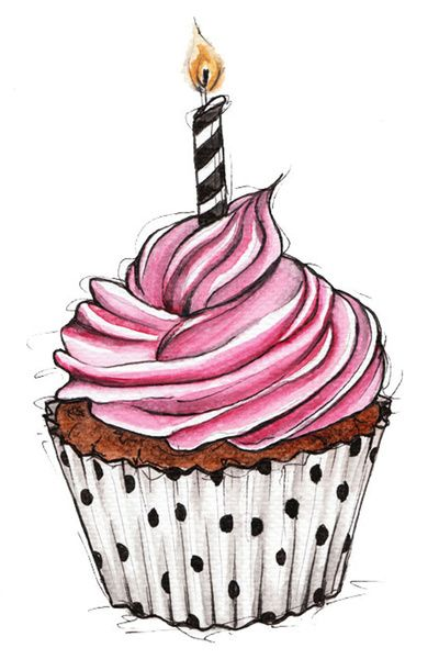 Drawn cupcake Best without this candle Cupcake