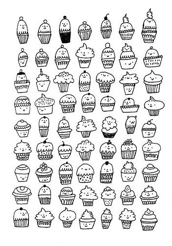 Drawn cake small On 25+ Cupcake Pinterest best