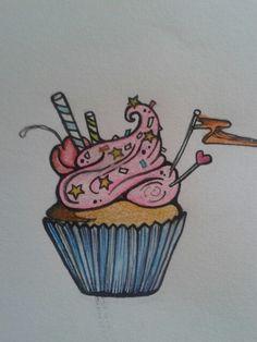 Drawn cupcake blank My crayons Cupcake with Cupcake