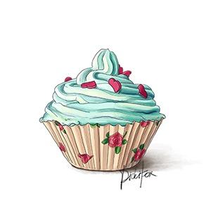 Drawn cupcake blank 25 356 Pinterest Cupcake (blank
