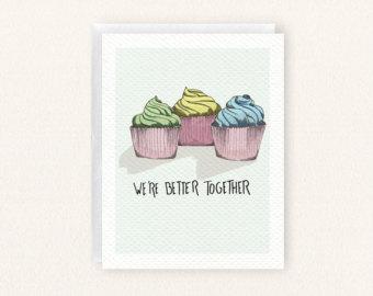 Drawn cupcake blank Drawn Blank Etsy We're Together