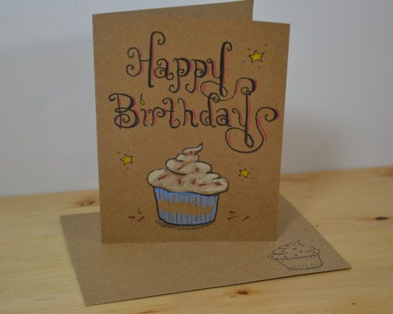 Drawn cupcake blank 25 Pinterest Illustrated images on