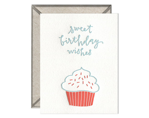 Drawn cupcake blank Inside Birthday and blank hand