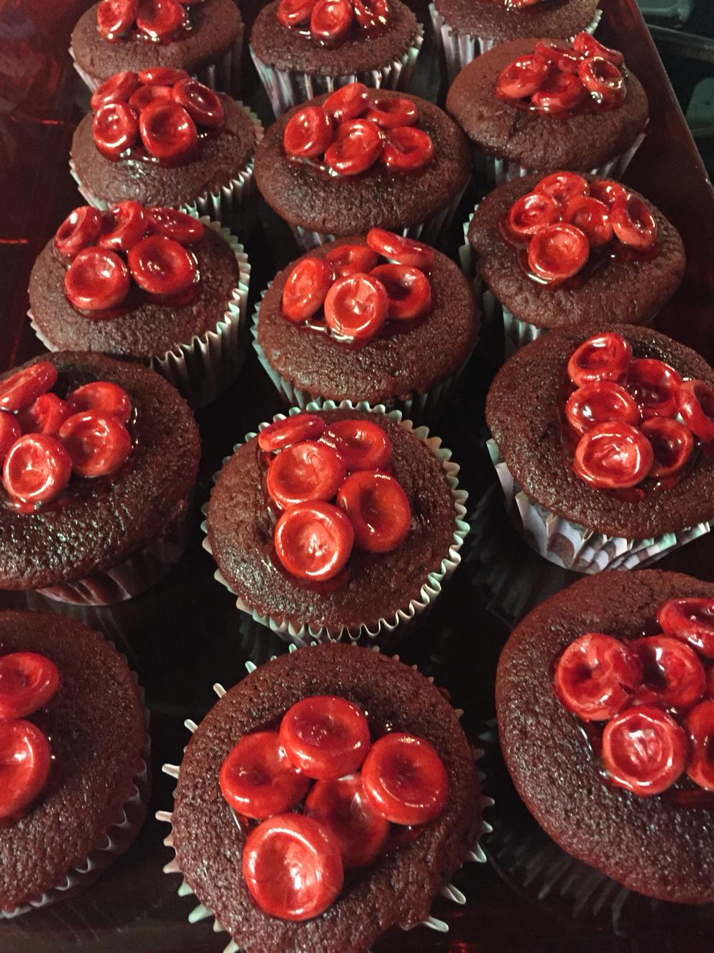 Drawn cupcake bloody Nursing Cells red some Cells