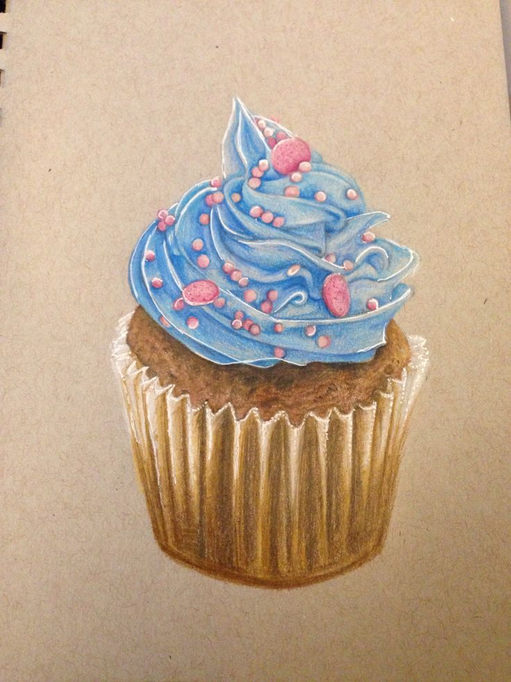 Drawn cupcake cake art Drawing! Also Vazquez on images