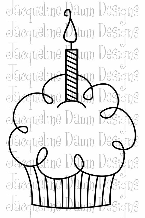 Drawn candle birthday candle #2