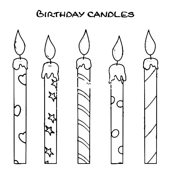 Drawn candle Birthday Draw How to Candle
