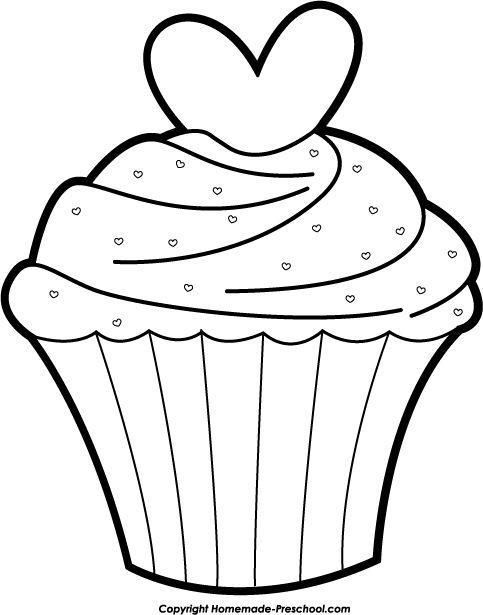 Templates  clipart cupcake