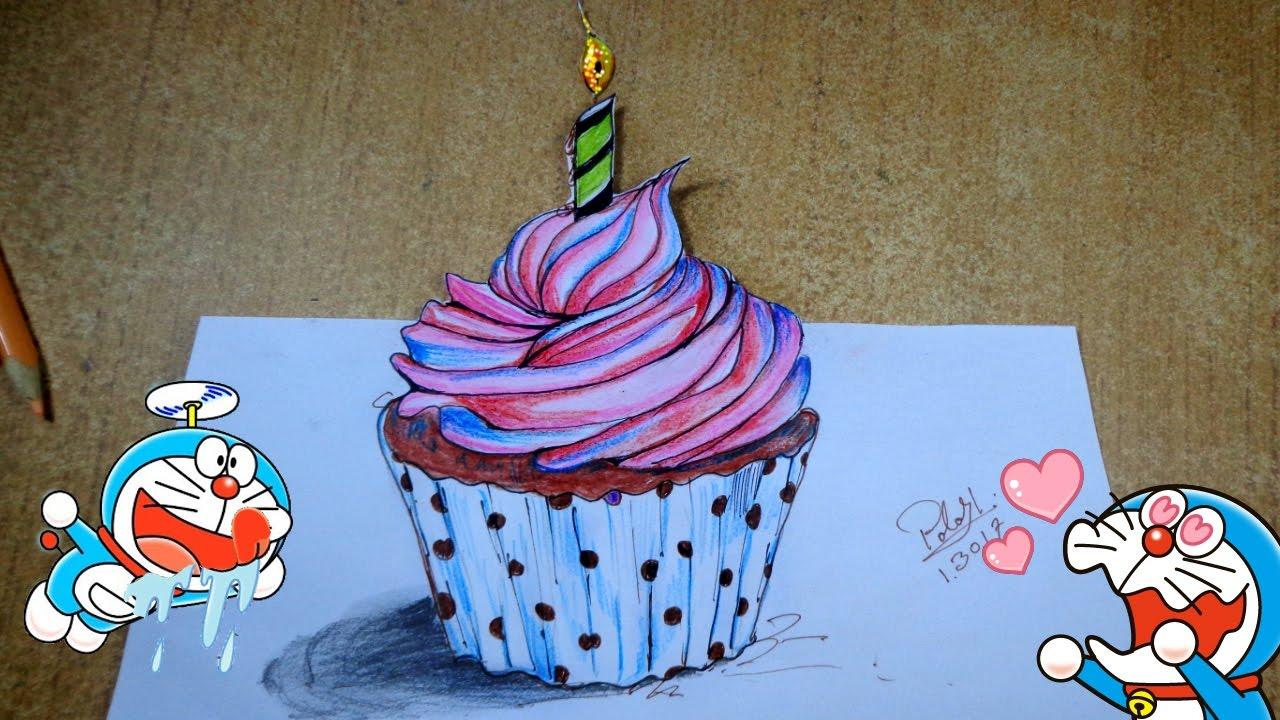 Drawn cake pencil drawing Drawing A Cartoon YouTube Draw