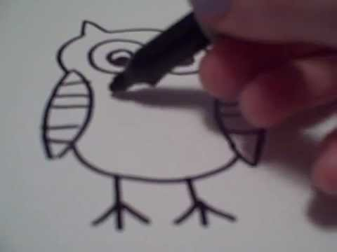 Drawn owl owel Draw  Owl How YouTube