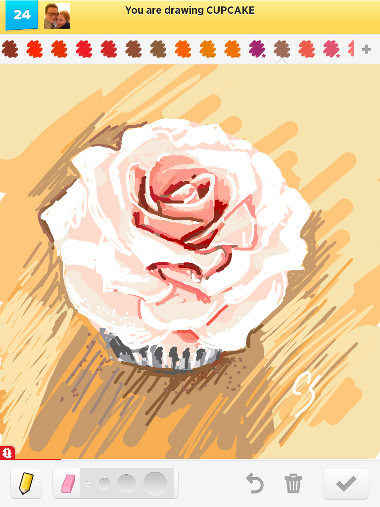 Drawn rose draw something Draw drawn Something Cin cupcake