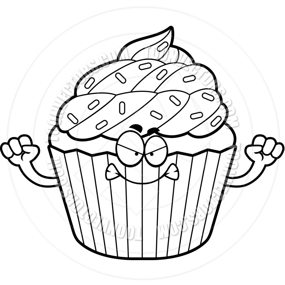 Drawn cake halloween cupcake Clipart cupcake%20clipart%20black%20and%20white And Images Panda