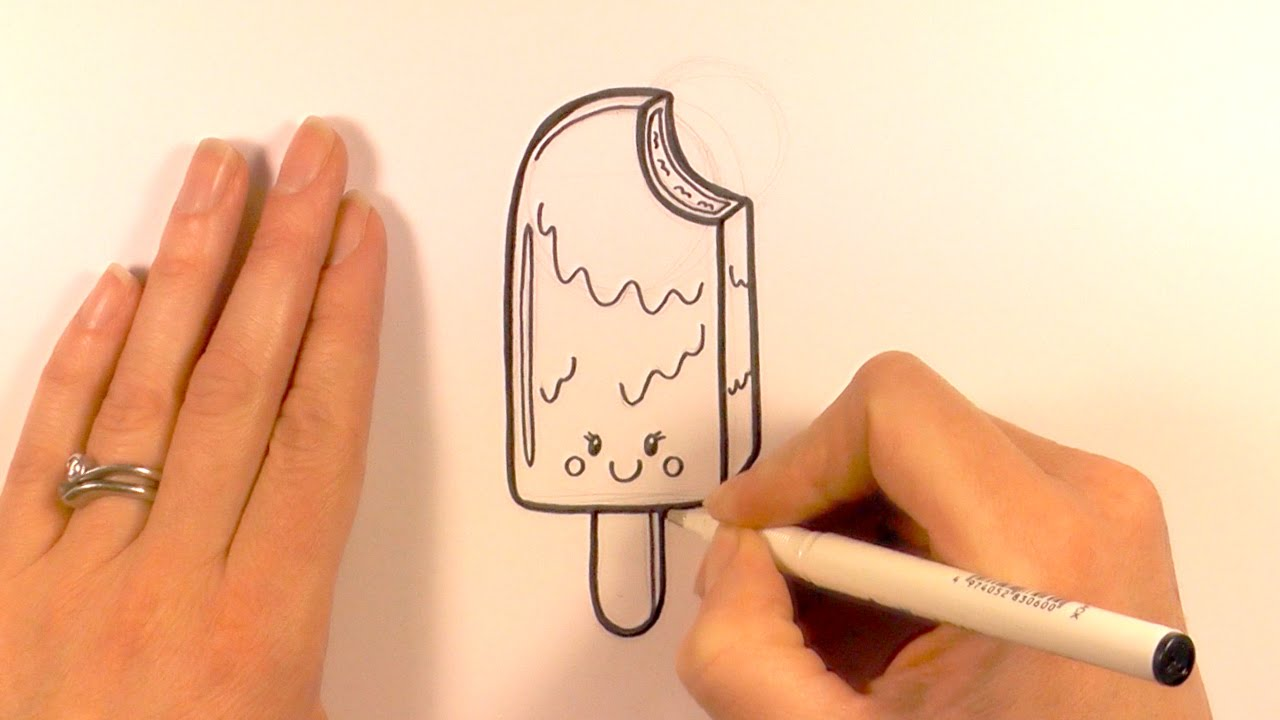 Drawn sweets lolly Cartoon Ice a How