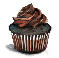 Chocolate clipart pencil drawing And love cupcake cupcake