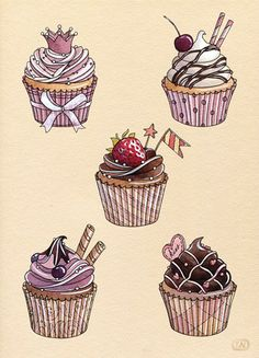 Drawn sweets vintage cake Contains sweet made pink collection