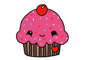 Drawn muffin A Cute Cute Cupcake Cupcake