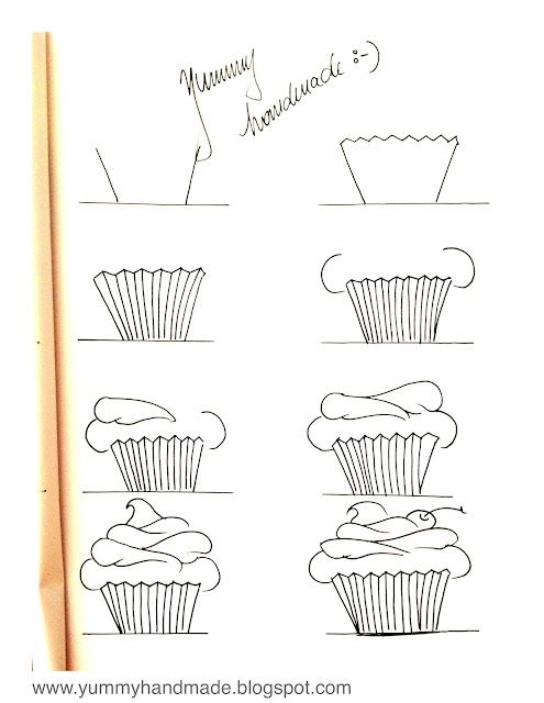 Drawn cake child Pinterest a ideas cupcake drawing