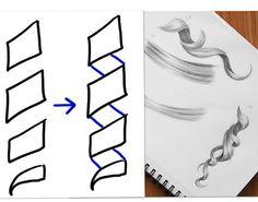 Drawn curl Pinterest draw hair to