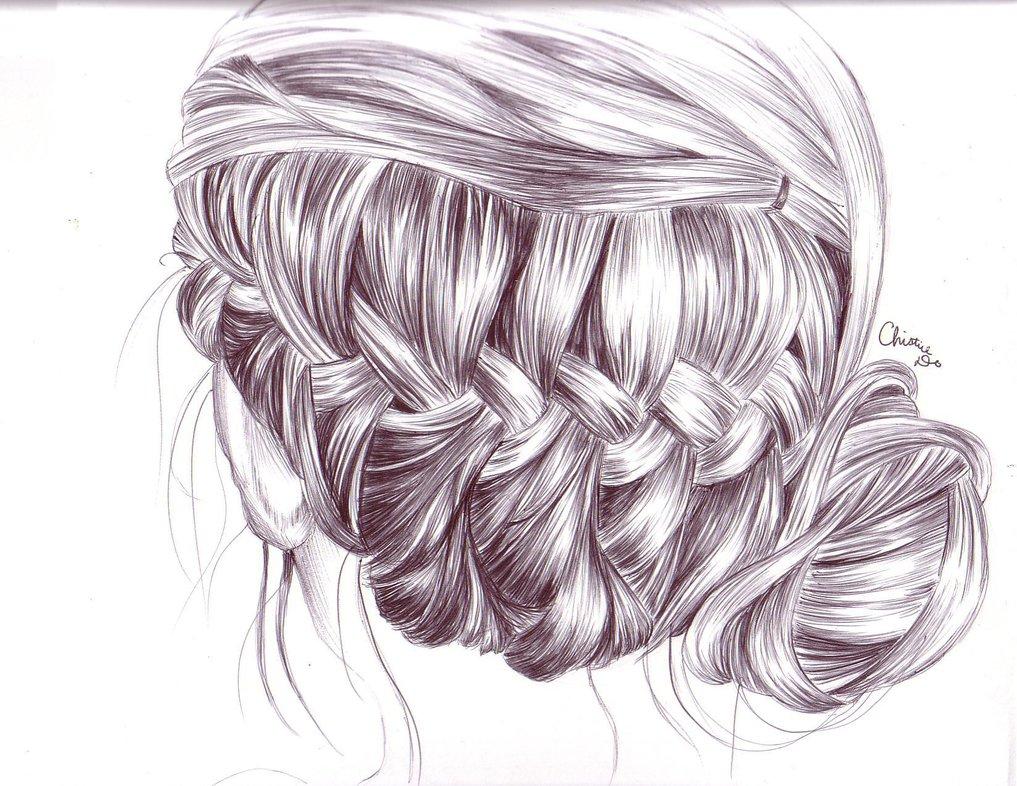 Drawn braid braided hair (1017×786) Drawing braid_hair_drawing_by_tinespoon jpg and