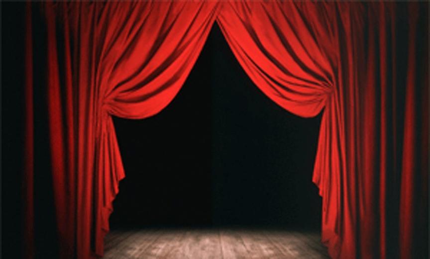 Drawn curtain #1