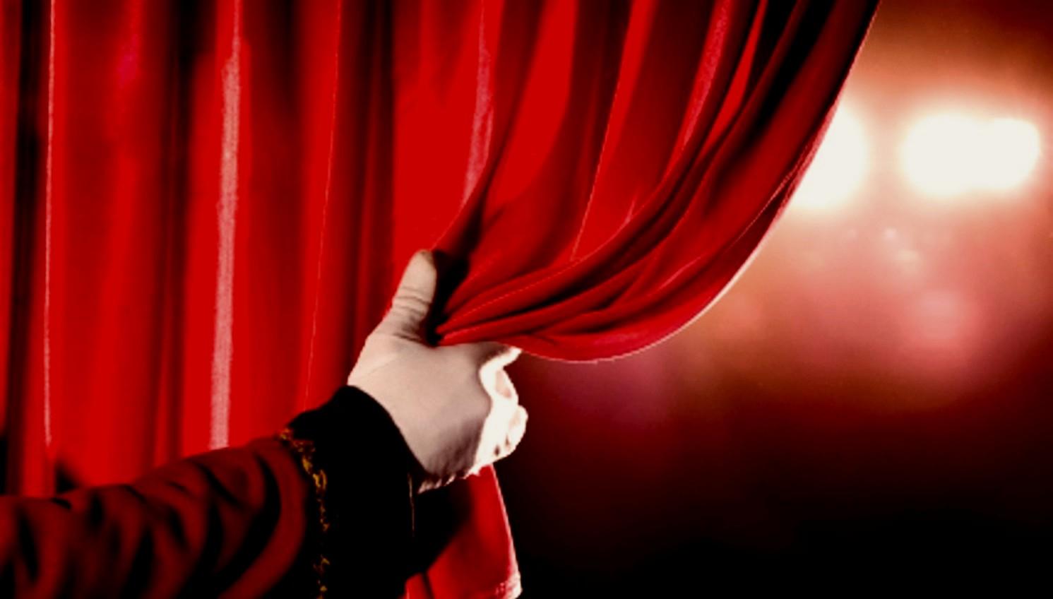 Drawn curtain #11