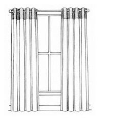 Drawn curtain #8