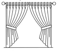 Drawn curtain #2