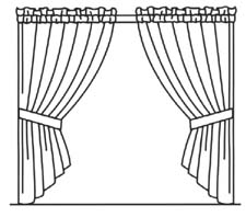 Drawn curtain #3
