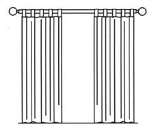 Drawn curtain #4