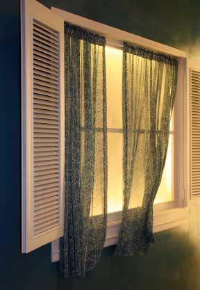 Drawn curtain casement #12