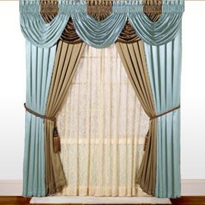 Drawn curtain casement #13