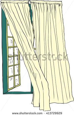 Drawn curtain casement #7